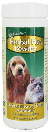 DROPPED: NaturVet - Herbal Flea Powder For Dogs & Cats - 4 oz. CLEARANCE PRICED