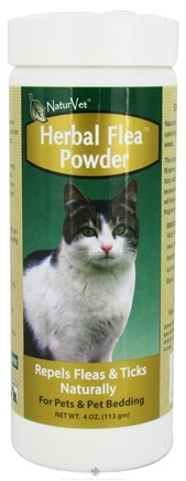 DROPPED: NaturVet - Herbal Flea Powder For Cats - 4 oz. CLEARANCE PRICED