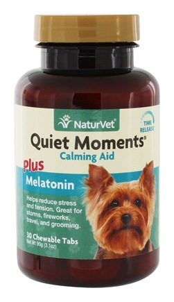 DROPPED: NaturVet - Quiet Moments Calming Aid For Dogs - 30 Chewable Tablets CLEARANCE PRICED