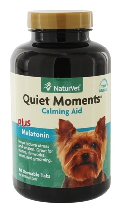DROPPED: NaturVet - Quiet Moments Calming Aid For Dogs - 60 Chewable Tablets CLEARANCE PRICED