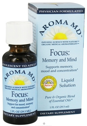 DROPPED: Aroma MD - Focus: Memory and Mind Liquid Solution - 1 oz. CLEARANCE PRICED