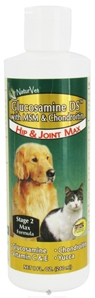 DROPPED: NaturVet - Glucosamine DS with MSM and Chondroitin For Dogs & Cats - 8 oz.
