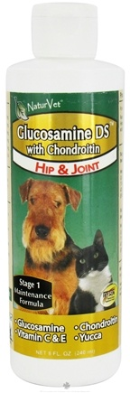 DROPPED: NaturVet - Glucosamine DS with Chondroitin Hip & Joint for Cats & Dogs - 8 oz. CLEARANCE PRICED