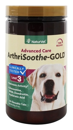 DROPPED: NaturVet - ArthriSoothe Gold For Cats & Dogs - 120 Chewable Tablets CLEARANCE PRICED