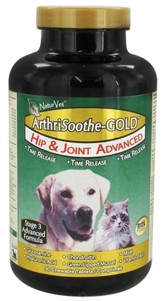DROPPED: NaturVet - ArthriSoothe Gold For Cats & Dogs - 90 Chewable Tablets CLEARANCE PRICED