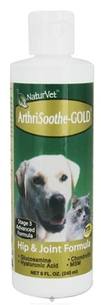DROPPED: NaturVet - ArthriSoothe Gold Liquid For Cats & Dogs - 8 oz. CLEARANCE PRICED
