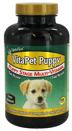 DROPPED: NaturVet - VitaPet Puppy - 60 Chewable Tablets CLEARANCE PRICED