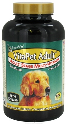 DROPPED: NaturVet - VitaPet Adult Multivitamin For Dogs - 60 Chewable Tablets CLEARANCE PRICED