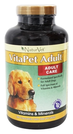 DROPPED: NaturVet - VitaPet Adult Multivitamin For Dogs - 180 Chewable Tablets
