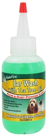 DROPPED: NaturVet - Ear Wash With Tea Tree Oil - 4 oz. CLEARANCE PRICED
