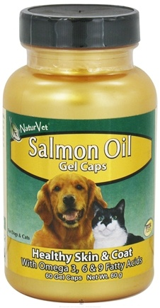 DROPPED: NaturVet - Salmon Oil - 60 Gelcaps CLEARANCE PRICED