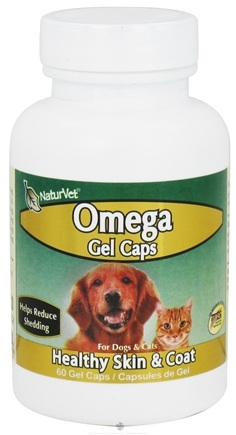 DROPPED: NaturVet - Omega For Pets - 60 Gelcaps CLEARANCE PRICED