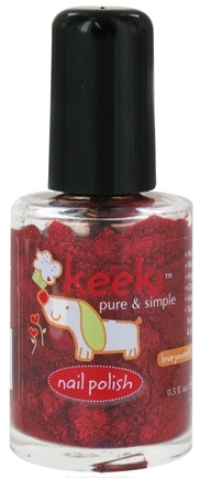 DROPPED: Keeki Pure & Simple - Nail Polish Chocolate Covered Cherry - 0.5 oz. CLEARANCE PRICED