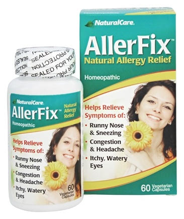 NaturalCare - AllerFix Homeopathic Natural Allergy Relief - 60 Vegetarian Capsules