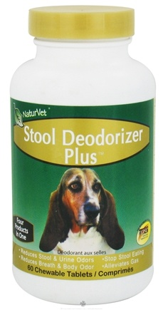 DROPPED: NaturVet - Stool Deodorizer Plus - 60 Chewable Tablets