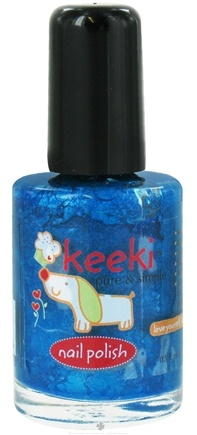 DROPPED: Keeki Pure & Simple - Nail Polish Blue Raspberry Punch - 0.5 oz. CLEARANCE PRICED