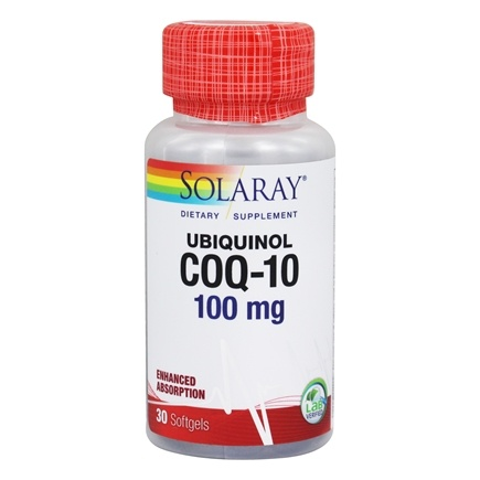 Solaray - Ubiquinol CoQ-10 Enhanced Absorption 100 mg. - 30 Softgels