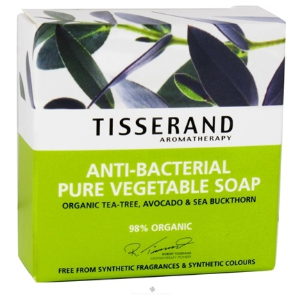 DROPPED: Tisserand Aromatherapy - Pure Vegetable Soap Anti-Bacterial Organic Tea-Tree, Avocado & Sea Buckthorn - 3.5 oz.