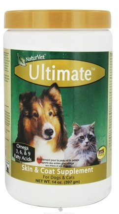 DROPPED: NaturVet - Ultimate Skin & Coat Supplement - 14 oz. CLEARANCE PRICED