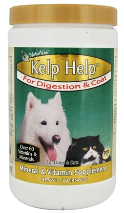DROPPED: NaturVet - Kelp Help For Digestion & Coat For Cats & Dogs - 1 lb. CLEARANCE PRICED