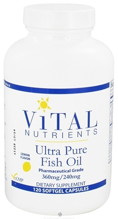 DROPPED: Vital Nutrients - Ultra Pure Fish Oil 360mg/240mg Lemon Flavor - 120 Softgels
