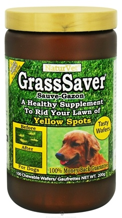 DROPPED: NaturVet - GrassSaver - 100 Chewable Wafers CLEARANCE PRICED