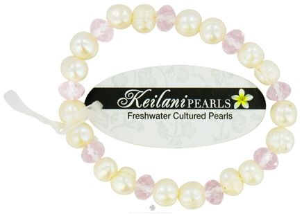 DROPPED: Zorbitz - Keilani Pearls Bracelet You Are Beautiful White with Pink Crystals - CLEARANCE PRICED