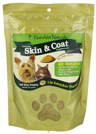 DROPPED: NaturVet - Ultimate Skin & Coat Supplement Powder - 11 oz. CLEARANCE PRICED