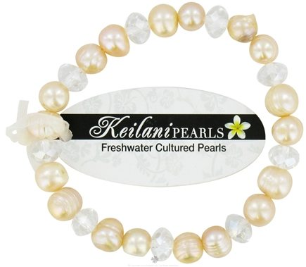 DROPPED: Zorbitz - Keilani Pearls Bracelet Good Health and Hapiness Pink with White Crystals - CLEARANCE PRICED
