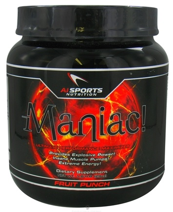 DROPPED: AI Sports Nutrition - Maniac Fruit Punch - 1.81 lbs. CLEARANCE PRICED