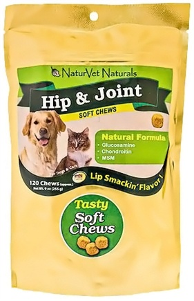 DROPPED: NaturVet - Hip & Joint Soft Chews For Dogs Chicken Flavor - 120 Chews CLEARANCE PRICED