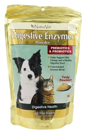 NaturVet - Digestive Enzymes Powder For Dogs & Cats - 10 oz.
