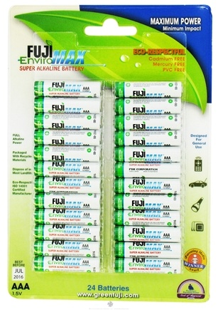 DROPPED: Fuji EnviroMAX - Super Alkaline Batteries AAA - 24 Pack CLEARANCE PRICED