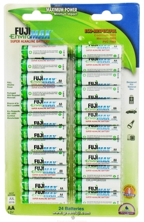 DROPPED: Fuji EnviroMAX - Super Alkaline Batteries AA - 24 Pack CLEARANCE PRICED