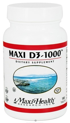 DROPPED: Maxi-Health Research Kosher Vitamins - Maxi D3-1000 IU - 180 Tablets CLEARANCE PRICED