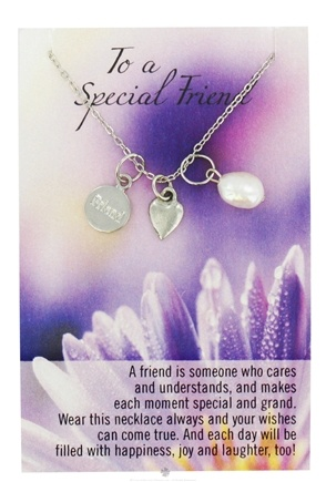 DROPPED: Zorbitz - Necklace with Meaningful Poem To A Special Friend - CLEARANCE PRICED