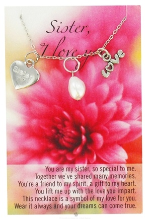 DROPPED: Zorbitz - Necklace with Meaningful Poem I Love You Sister - CLEARANCE PRICED