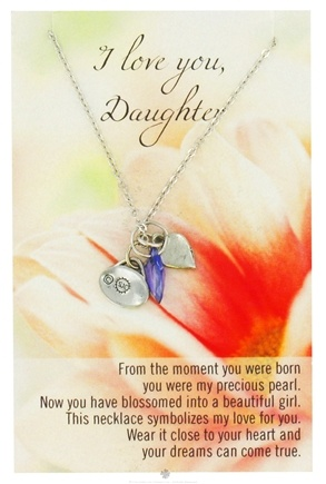 DROPPED: Zorbitz - Necklace with Meaningful Poem I Love You Daughter - CLEARANCE PRICED