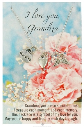 DROPPED: Zorbitz - Necklace with Meaningful Poem I Love You Grandma - CLEARANCE PRICED