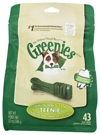 Greenies - Dental Chews For Dogs Teenie (For Dogs 5-15 lbs.) - 43 Chews