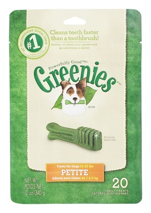 DROPPED: Greenies - Dental Chews For Dogs Petite (For Dogs 15-25 lbs.) - 20 Chews CLEARANCE PRICED