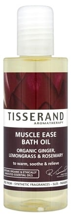 DROPPED: Tisserand Aromatherapy - Bath Oil Muscle Ease Organic Ginger, Lemongrass & Rosemary - 3.3 oz. CLEARANCE PRICED