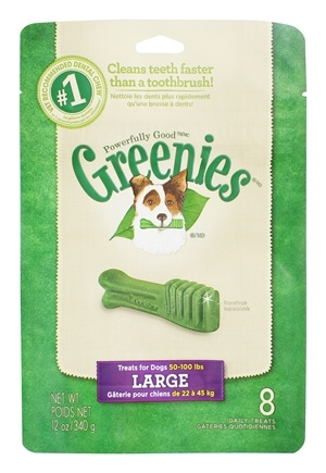 DROPPED: Greenies - Dental Chews For Dogs Large (For Dogs 50-100 lbs.) - 8 Chews CLEARANCE PRICED