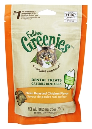 Greenies - Feline Dental Treats Roasted Chicken - 2.5 oz.
