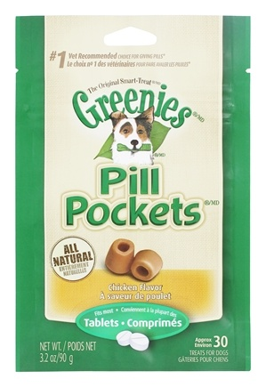 Greenies - Pill Pockets For Dogs Tablets Chicken - 3.2 oz.