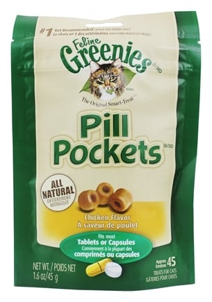 Greenies - Pill Pockets For Cats Chicken Flavor - 1.6 oz.