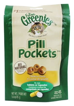 Greenies - Pill Pockets For Cats Chicken - 1.6 oz.