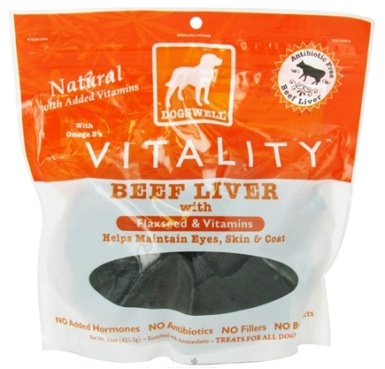 DROPPED: Dogswell - Vitality Dog Treats With Flaxseed & Vitamins Beef Liver Jerky - 15 oz.