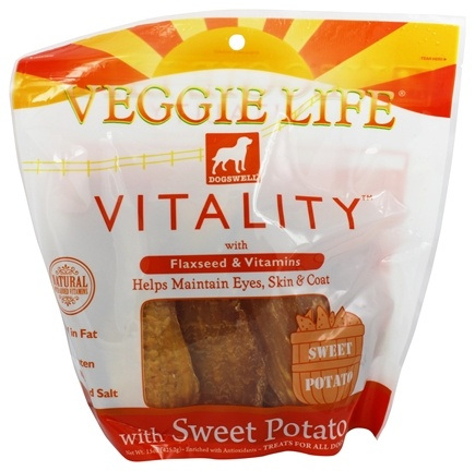 DROPPED: Dogswell - Veggie Life Vitality With Flaxseed & Vitamins Sweet Potato Jerky - 15 oz.