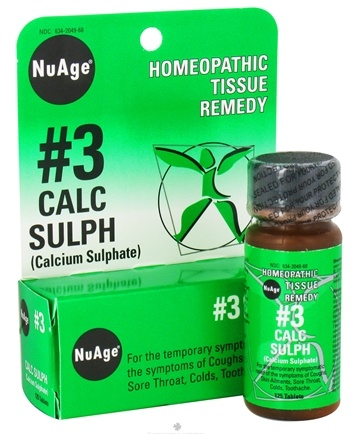 DROPPED: NuAge - #3 Calcium Sulphate Homeopathic Tissue Remedy - 125 Tablets CLEARANCE PRICED
